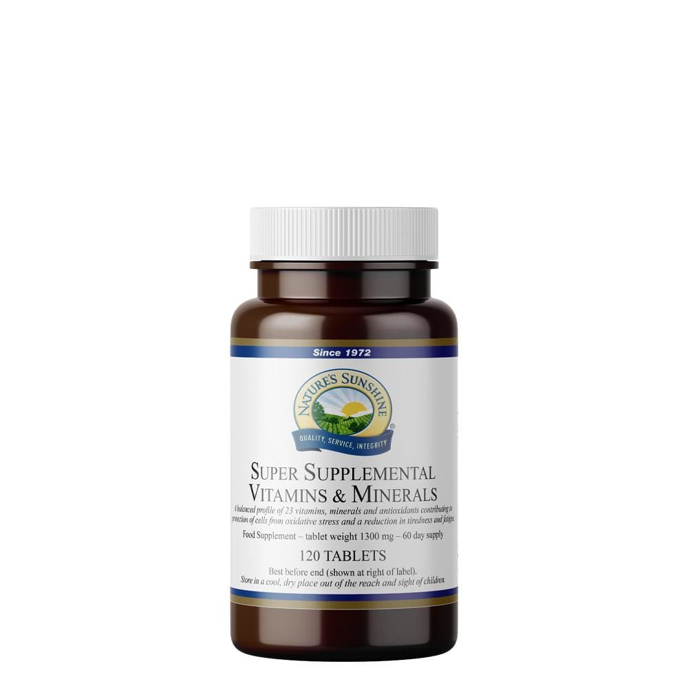 Nature's Sunshine - Super Supplemental Vitamins and Minerals (120 Tablets) -