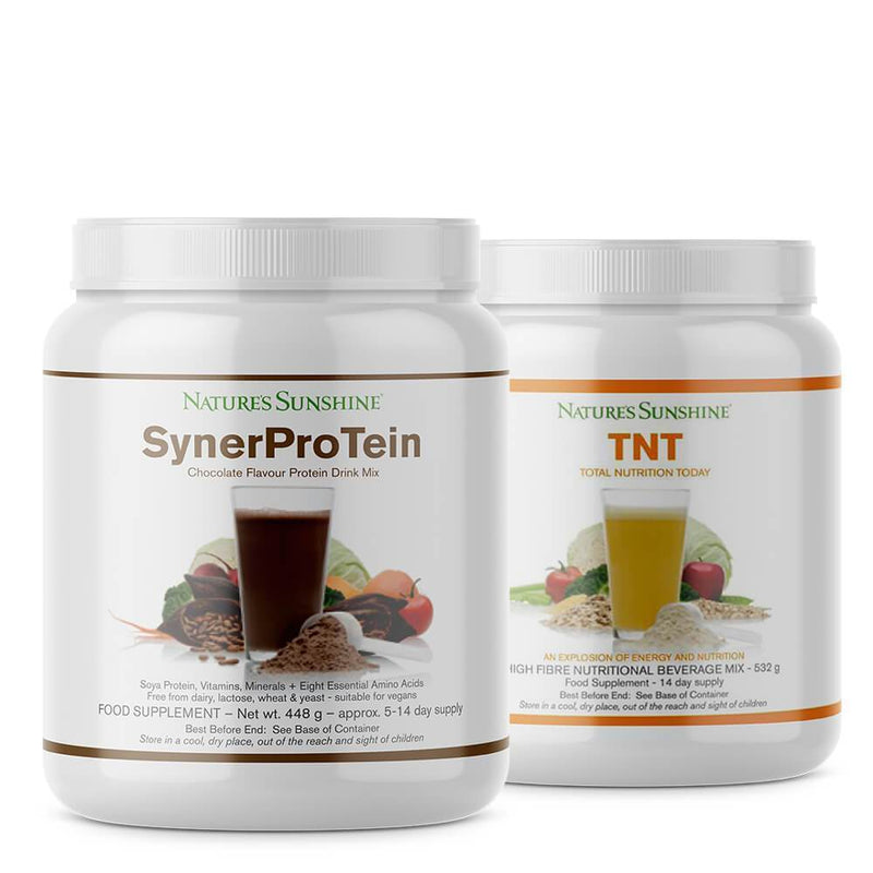 Natures Sunshine - SynerProTein Chocolate and TNT - Bundle