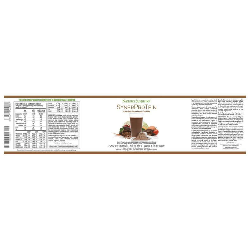 Natures Sunshine - SynerProTein® Chocolate (448g Powder) - Powder