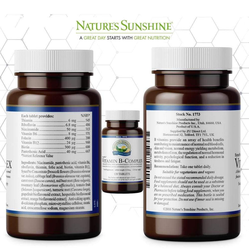 Nature's Sunshine - Vitamin B-Complex (120 Tablets) - Tablet