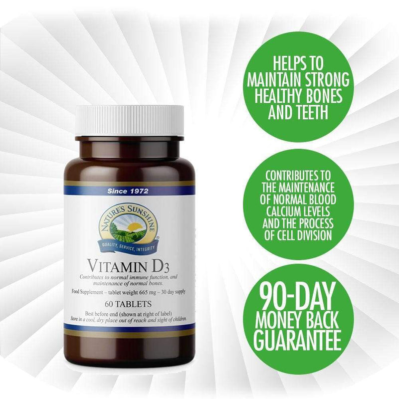 Nature's Sunshine - Vitamin D3 (60 Tablets) - Tablet