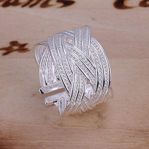KN-R024 Hot Sale 925 Free Shipping Silver Fine Jewelry Wholesale Silver Charms Fashion Jewelry Big Web Ring-Opened