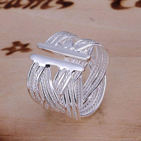 KN-R024 Hot Sale 925 Free Shipping Silver Fine Jewelry Wholesale Silver Charms Fashion Jewelry Big Web Ring-Opened 2
