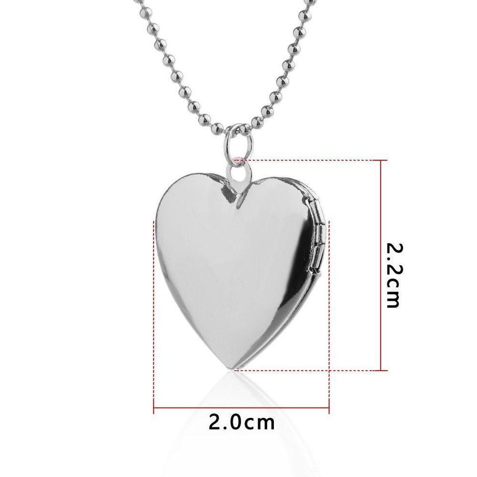 1 Pc Heart Shaped Friend Photo Picture Frame Locket Pendant for Necklace Romantic Fashion Jewelry Nice Gift 2