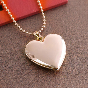 1 Pc Heart Shaped Friend Photo Picture Frame Locket Pendant for Necklace Romantic Fashion Jewelry Nice Gift