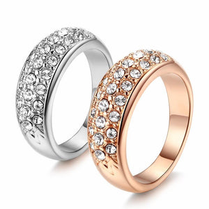 Top Quality Hot Sell Elegant Rose Gold Color Wedding Ring Austrian Crystals Full Sizes Wholesale ZYR061 ZYR109 1