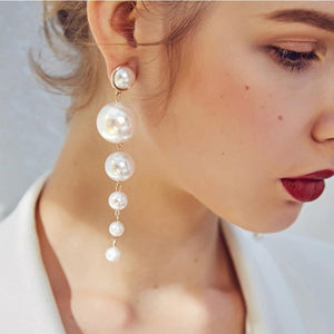 1 Pair Fashion Women Stylish Gold/ Silver Color Star Streamlined Tassel Long Crystal Earrings Women Girl Jewelry Pendante Femme  3