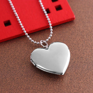 1 Pc Heart Shaped Friend Photo Picture Frame Locket Pendant for Necklace Romantic Fashion Jewelry Nice Gift 3