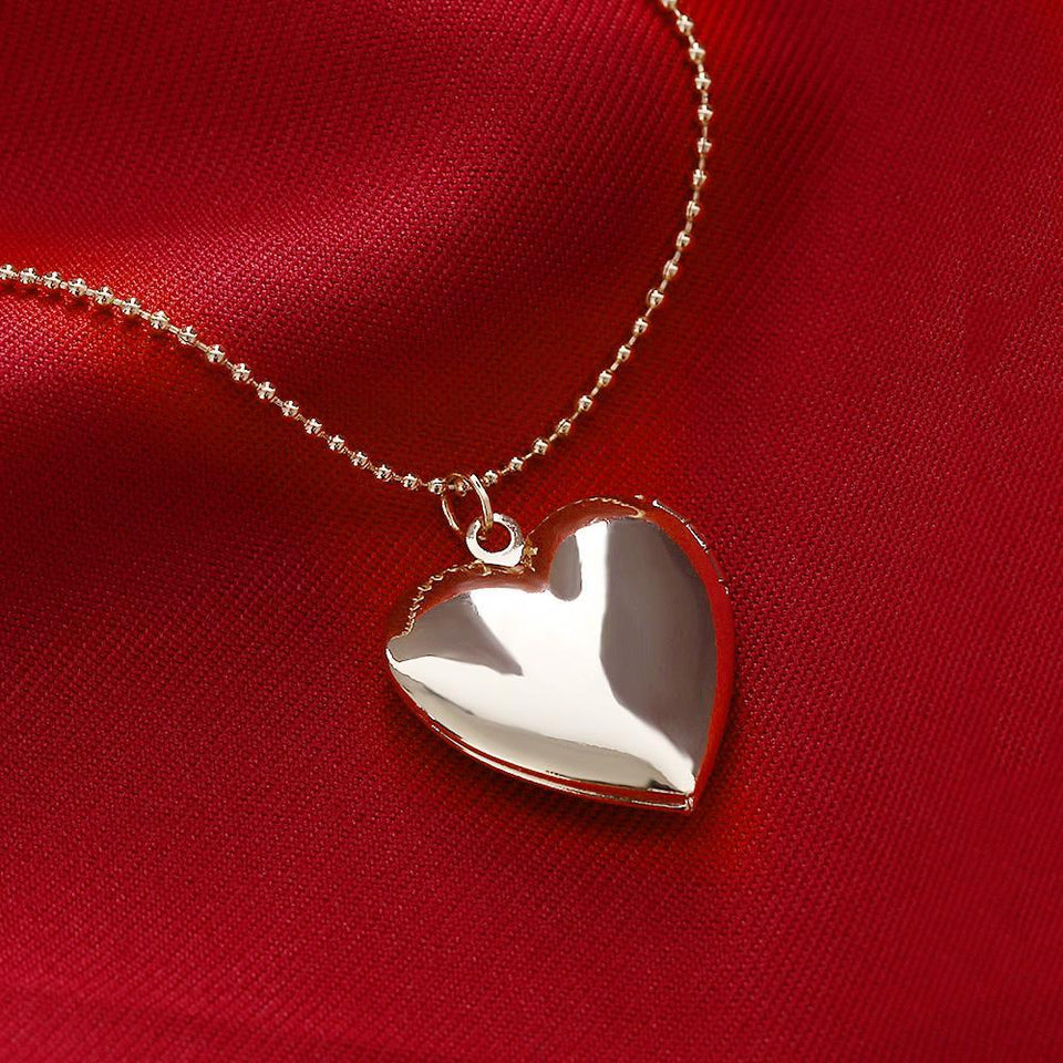 1 Pc Heart Shaped Friend Photo Picture Frame Locket Pendant for Necklace Romantic Fashion Jewelry Nice Gift 4