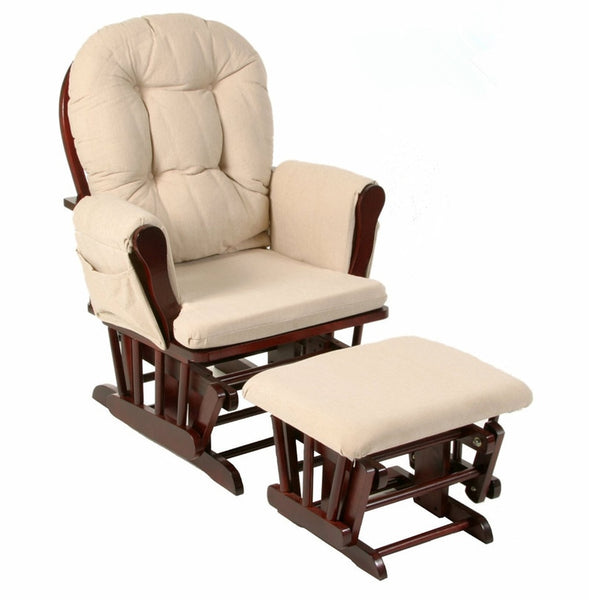 Wood Rocking Chair Rocker And Ottoman Living Room Furniture Modern Ergonomic