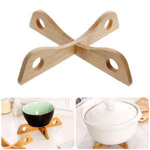 New Bamboo Heat Resistant Pan Mats Removable Pot Mat Holder Kitchen Cooking