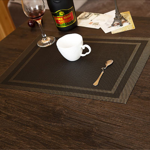 New 4PCS Table Mat for Home Decoration, Mats of PVC Kitchen Accessories Table