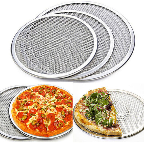 New Multi-Size Aluminum Pizza Tray Screen Mesh Pizza Stones Baking Pan Pizza Stone Tray