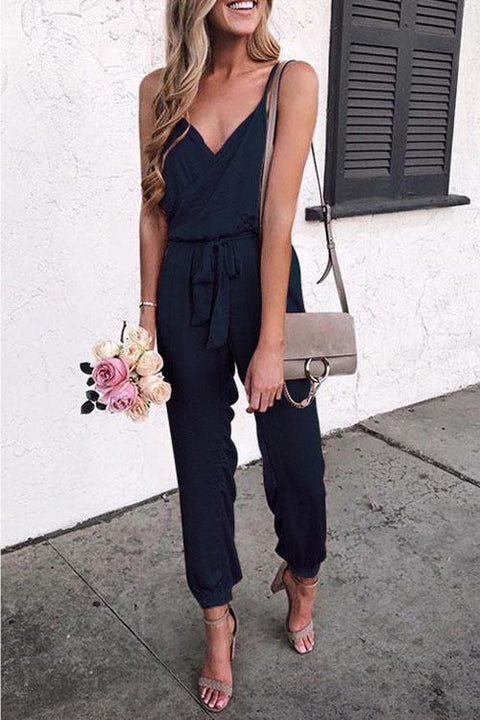 Crisdress Tulip V Neck Jumpsuit