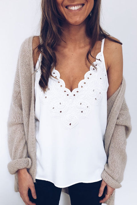 Crisdress Cute Little Lace Crop Top