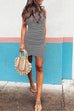 Crisdress Ruched Sheath T-shirt Dress