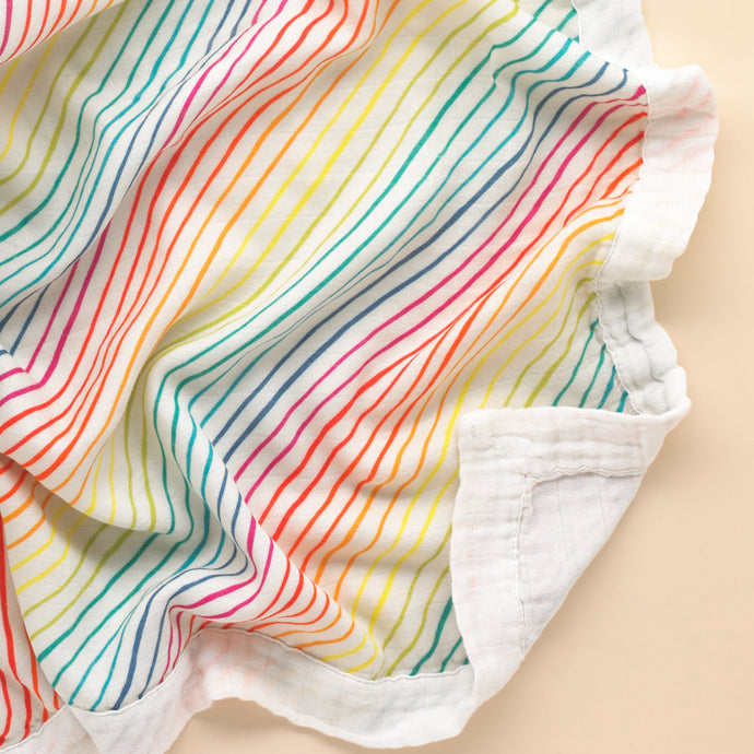 Rainbow Organic Cotton Muslin Blanket - Pattie & Co.