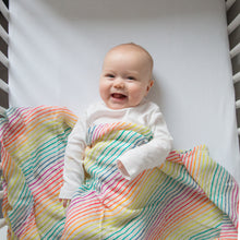 Load image into Gallery viewer, Rainbow Organic Cotton Muslin Swaddle - Pattie & Co.