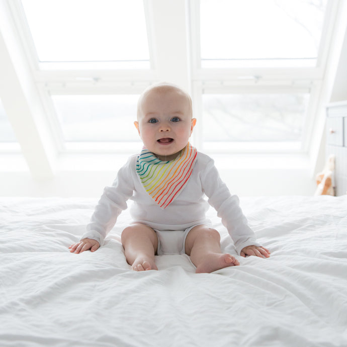 Rainbow Super Soft Muslin Dribble Bib - Pattie & Co.