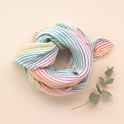 Rainbow - Organic Cotton Muslin Swaddle - Pattie & Co.