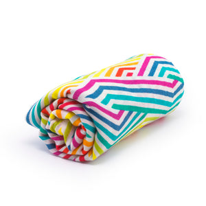 Geometric Rainbow - Organic Cotton Muslin Swaddle