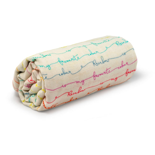 Favourite Rainbow - Organic Cotton Muslin Swaddle