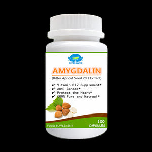 Vitamin B17 Supplement,Bitter Apricot Seed 20:1 Extract Powder with Amygdalin,Anti-cancer,Almond,Apricot Kernel - 100pcs/bottle