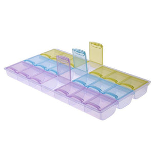 21 Grid Pill Case Medicine Storage Tablet Pill Box With Clip Lid Medicine Organizer Pill Case Splitters Storage Dispenser Weekly