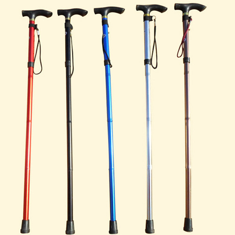 Aluminum crutch elderly walker folding retractable portable cane crutch elderly
