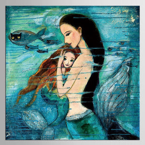 The Little Mermaid Print On Canvas