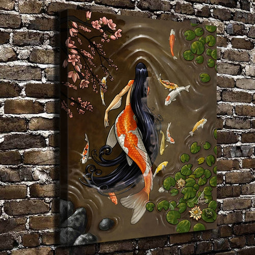 Mermaid Art Figure HD Canvas Print