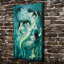 Load image into Gallery viewer, Swimming Mermaids HD Canvas Print