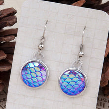 Load image into Gallery viewer, Mermaid Fish /Dragon Scale Earrings