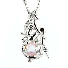 Load image into Gallery viewer, Mermaid Imitation Pearl Cage Pendant Necklace