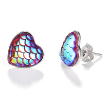 Load image into Gallery viewer, Mermaid Fish Scale Earrings