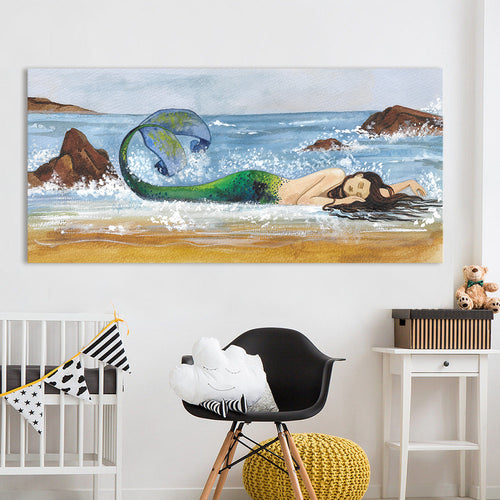 Mermaid Beach Printed Oil Painting