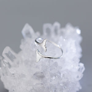 100% 925 Sterling Silver Mermaid Tail Ring
