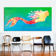 Load image into Gallery viewer, Wall Art Mermaid Oil Painting