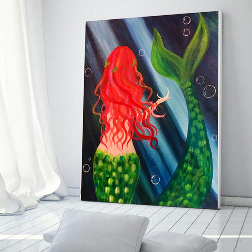 Sea Mermaid Oil Painting Picture