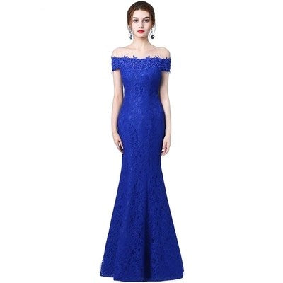 2018 elegant dress Crystal Beaded Lace Mermaid