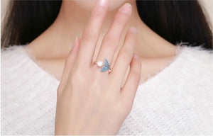 Silver Dolphin Tail Ring
