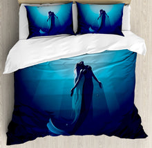 Load image into Gallery viewer, Mermaid Decor Duvet Cover Set