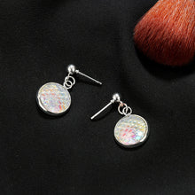 Load image into Gallery viewer, Round Resin Mermaid Scales Drop Earrings
