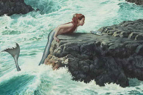 Mermaid fantasy oil painting on Canvas