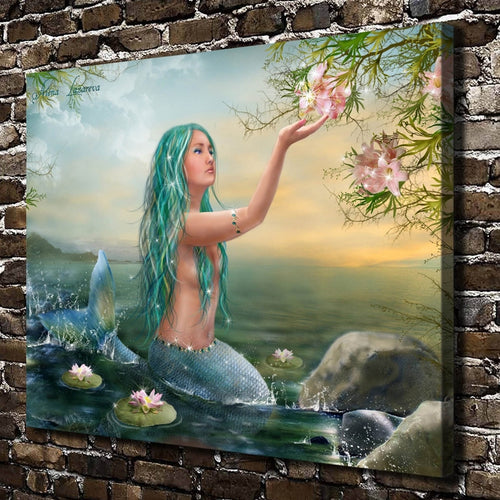 Beautiful Mermaid Anime HD Canvas Print