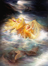 Load image into Gallery viewer, Sea Blonde Mermaid Canvas Painting
