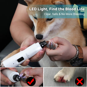iPettie Mjolnir Dog Nail Grinder with LED Light
