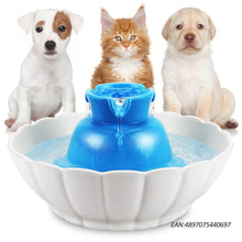 iPettie Ceramic Pet Drinking Fountain, Tritone Ultra Quiet 2.1L