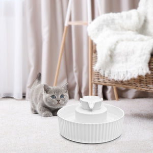 iPettie Cupcake Porcelain Pet Water Fountain, Ultra Quiet with USB Port