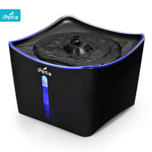 iPettie Kamino LED Light Pet Fountain with Switch and USB Port | Black